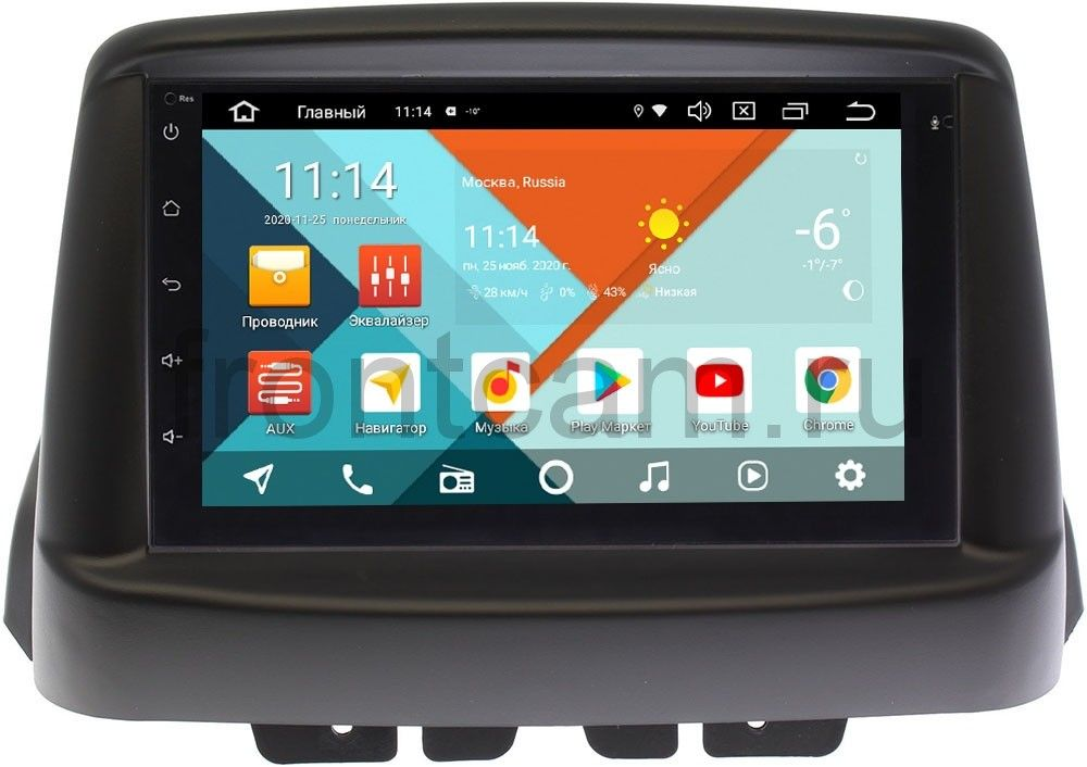 Магнитола в штатное место 2 din Fiat Doblo 2002-2017 Wide Media MT7001PK-2/16-RP-FIDOB-146 на Android 9.1 (DSP 3G-SIM) (+ Камера заднего вида в подарок!)