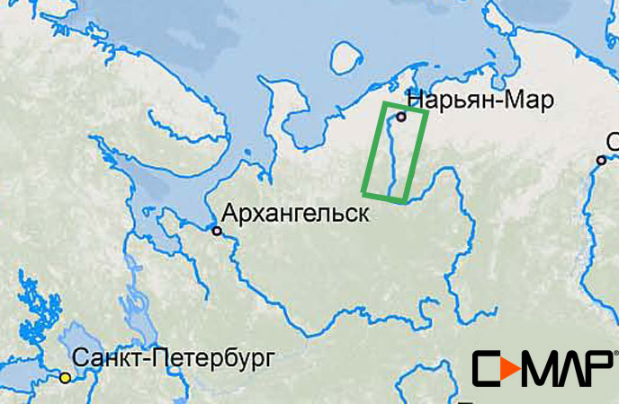 Карта C-MAP RS-N516 - Печора