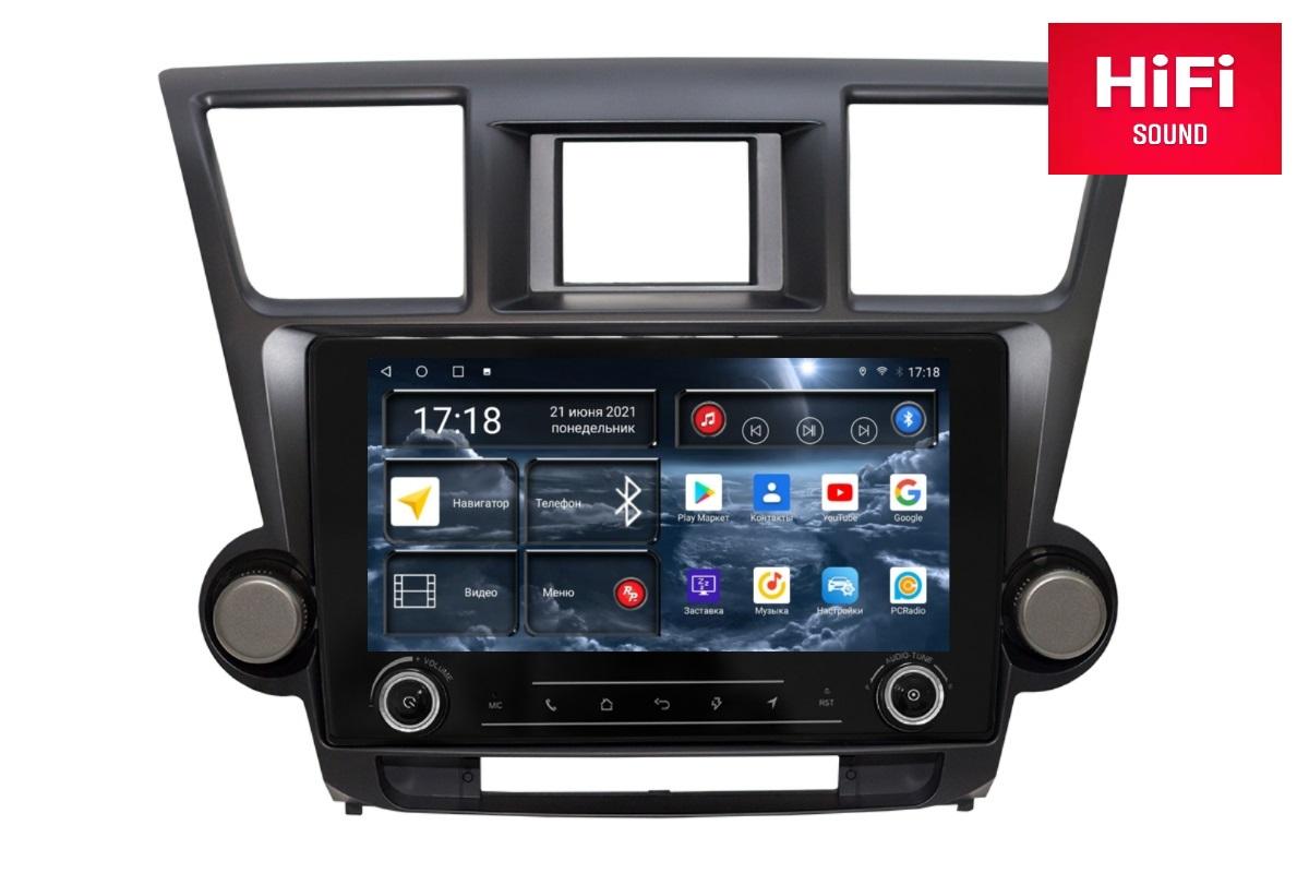 Автомагнитола RedPower K75035 Hi-Fi для Toyota Highlander 2-поколение XU40 (08.2010-12.2013) (+ Камера заднего вида в подарок!)