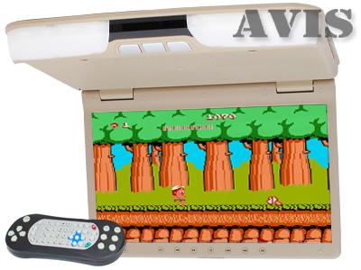 Фото - Автомобильный потолочный монитор 15,6 со встроенным DVD плеером AVIS AVS1520T (Бежевый) зеркало заднего вида со встроенным монитором 4 3 avis avs0410bm
