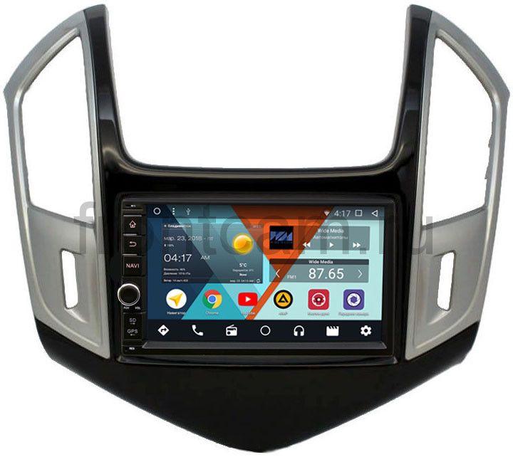 Штатная магнитола Chevrolet Cruze I 2012-2015 Wide Media WM-VS7A706NB-RP-CVCRD-62 Android 7.1.2 (+ Камера заднего вида в подарок!)