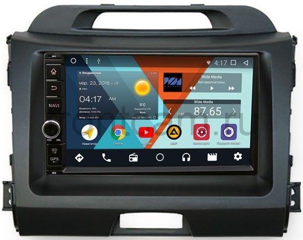 Штатная магнитола Wide Media WM-VS7A706NB-RP-KISGB-52 для Kia Sportage III 2010-2016 Android 7.1.2 штатная магнитола для kia sportage ii 2004 2010 wide media mt9049mf android 6 0 1