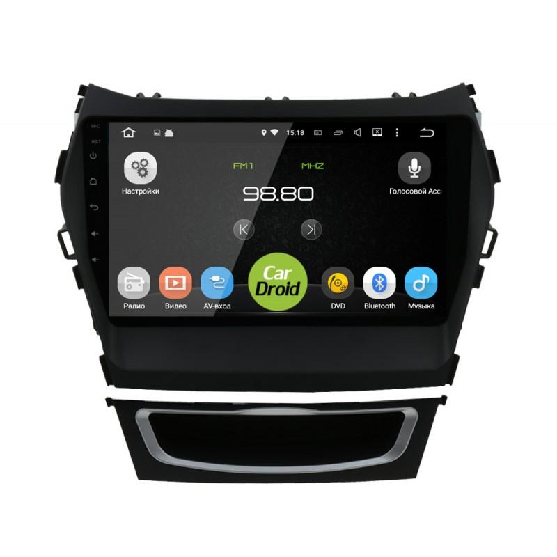 Штатная магнитола Roximo CarDroid RD-2019F для Hyundai SantaFe 3 / ix45 (Android 8.0) (+ Камера заднего вида в подарок!)