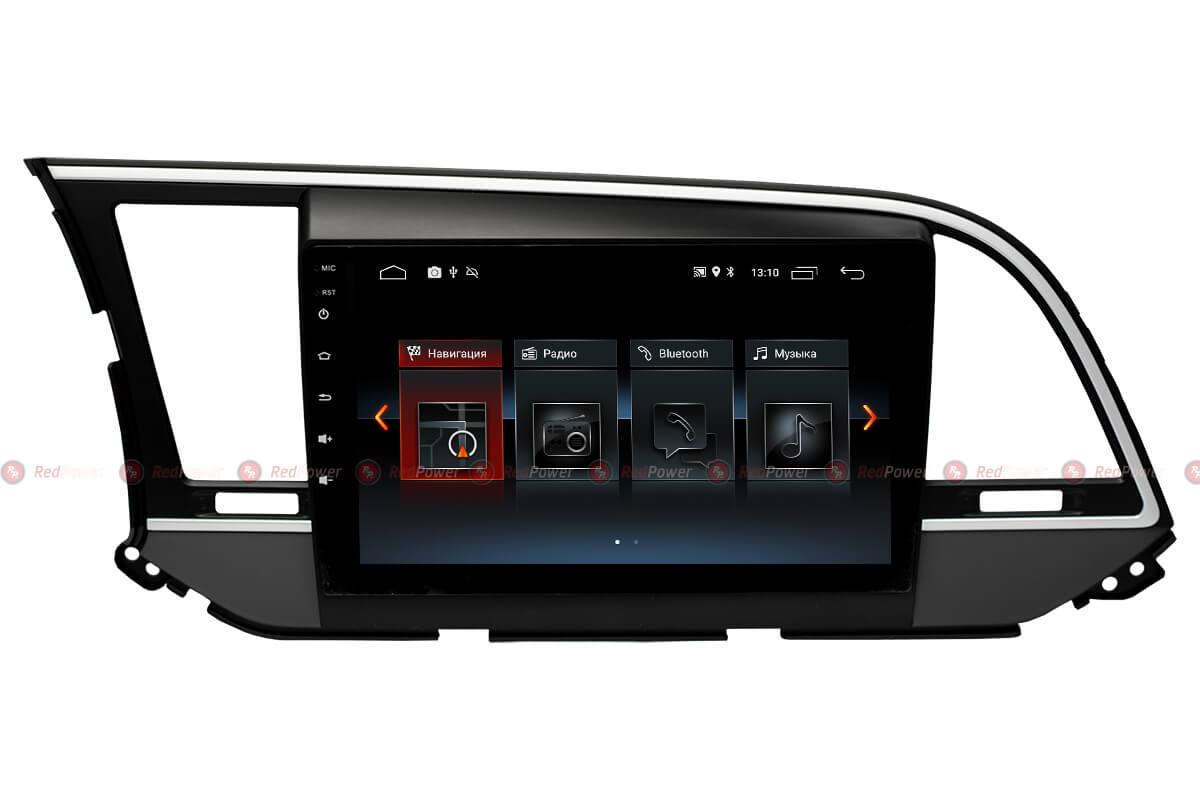 Автомагнитола Redpower 30094 IPS Hyundai Elantra 6 (2015-2017) Android 8.1 (+ камера заднего вида)RedPower<br>Магнитола на 4-х ядерном процессоре с  2 Гб оперативной памяти, стекло 2.5D мультитач, приятное на ощупь с презентабельным внешним видом. Подсветка кнопок RGB.<br>На борту GPS/ГЛОНАСС модуль, есть возможность подключения к сети Интернет. Android 8.1.