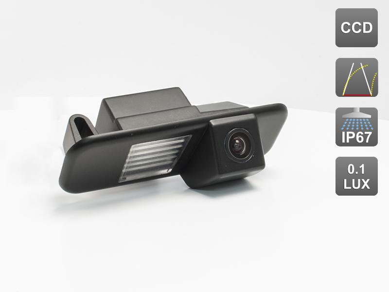 CCD штатная камера заднего вида с динамической разметкой AVIS Electronics AVS326CPR (#036) для KIA RIO II (2005-2010) SEDAN / RIO III (2011-...) SEDAN