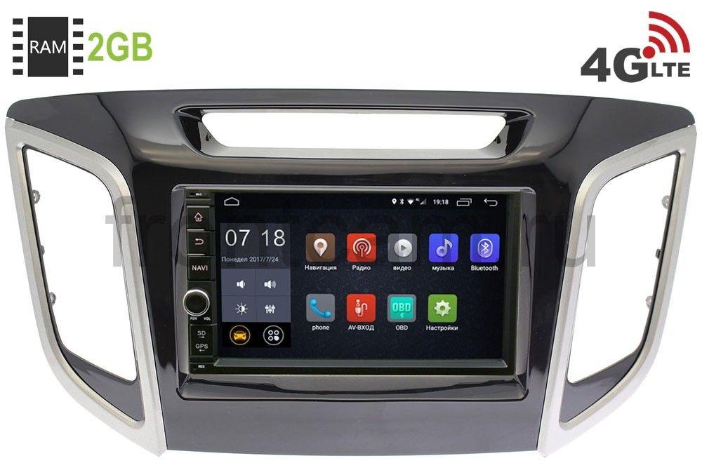 Штатная магнитола LeTrun 1968-RP-HDI25N-111 для Hyundai Creta 2016-2019 Android 6.0.1 (4G LTE 2GB) (+ Камера заднего вида в подарок!)