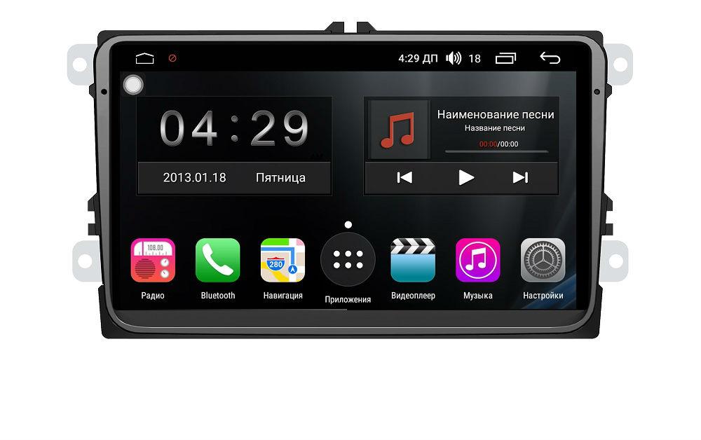 Штатная магнитола FarCar s200+ для Volkswagen, Skoda на Android (A818) (+ Камера заднего вида в подарок!) штатная магнитола carmedia ol 8992 dvd volkswagen skoda seat по списку