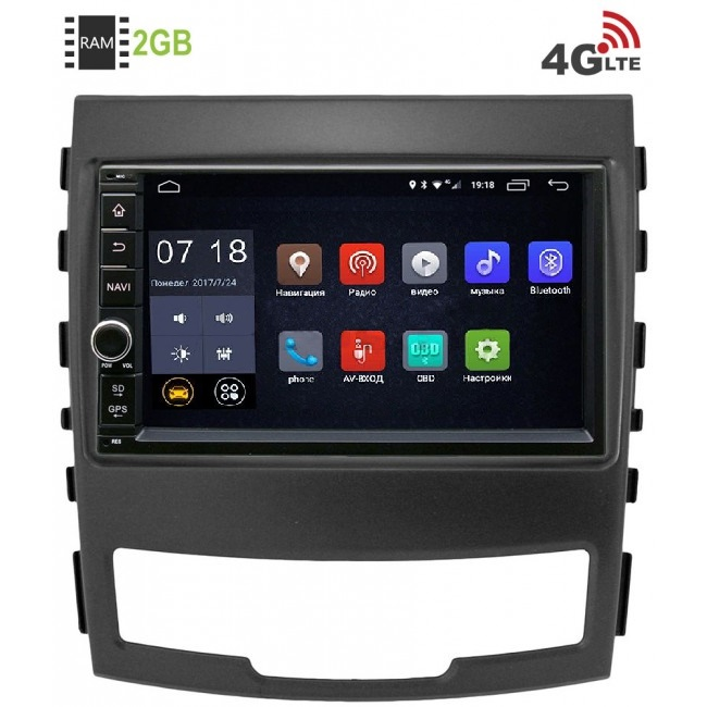 Штатная магнитола LeTrun 1968-RP-TYACB-61 для SsangYong Actyon II 2010-2013 Android 6.0.1 (4G LTE 2GB) штатная магнитола для kia sportage iii 2010 2016 letrun 2020 android 6 0 1