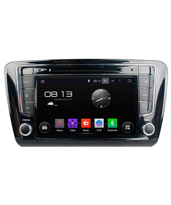Штатная магнитола для Skoda Octavia A5 2004-2013, Yeti 2009+ (взамен Swing/Bolero) CARMEDIA KD-8307-P3-7 на Android 7.1 shock absorber spring bumper power cushion buffer 4pcs lot for skoda superb fabia yeti octavia octavia rapid