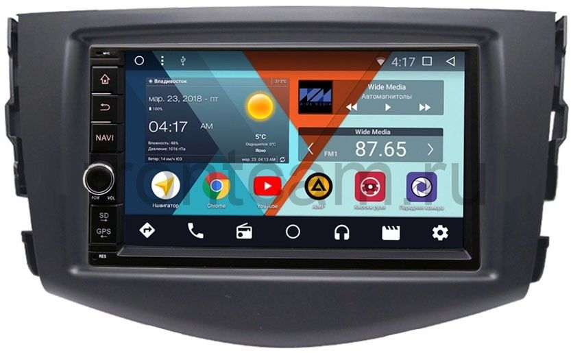 Штатная магнитола Wide Media WM-VS7A706NB-2/16-RP-TYRV3Xb-13 для Toyota RAV4 (XA30) 2006-2013 Android 7.1.2 летние шины michelin 255 45 zr19 100y pilot super sport