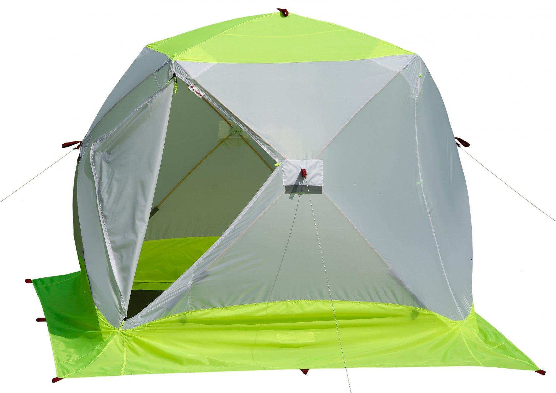 Зимняя палатка Лотос Куб 3 Классик ЭКО (+ Дарим комплект ввертышей для палаки.)