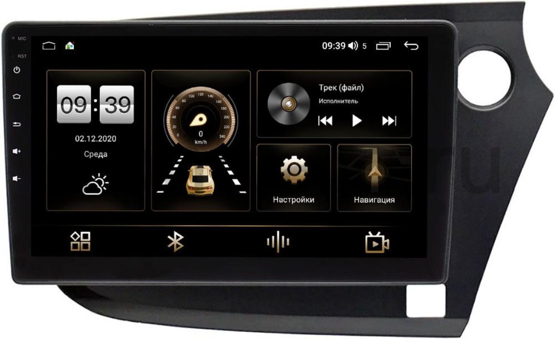 Штатная магнитола LeTrun 4166-9-304 для Honda Insight II (2009-2014) (правый руль) на Android 10 (4G-SIM, 3/32, DSP, QLed) (+ Камера заднего вида в подарок!)