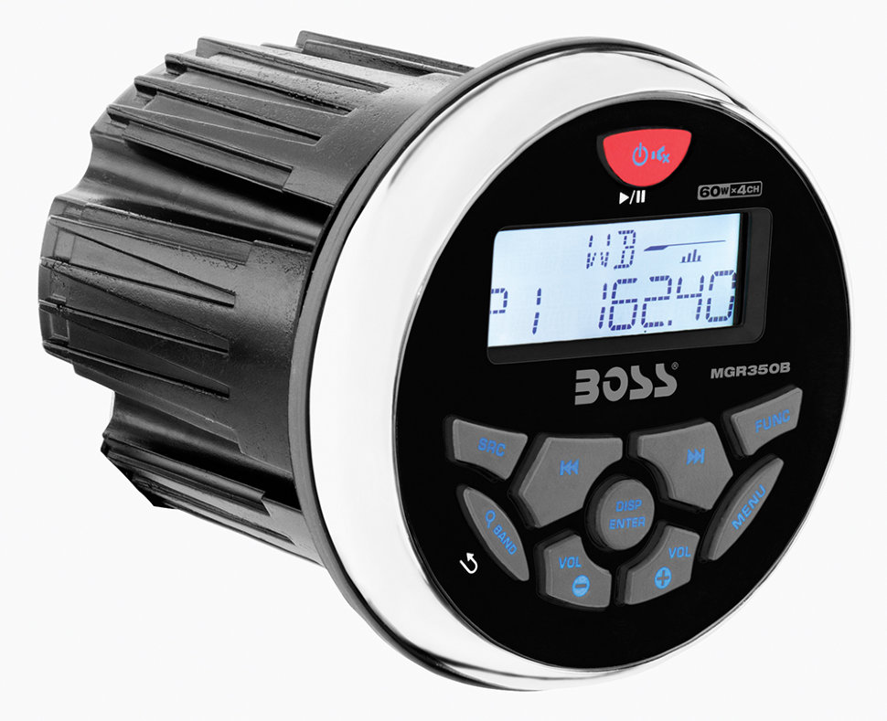 Влагозащищенное головное устройство Boss Audio Marine MGR350B для мотоцикла, квадроцикла, водного транспорта atj2273b mp4 mp5 atj2273b cpu