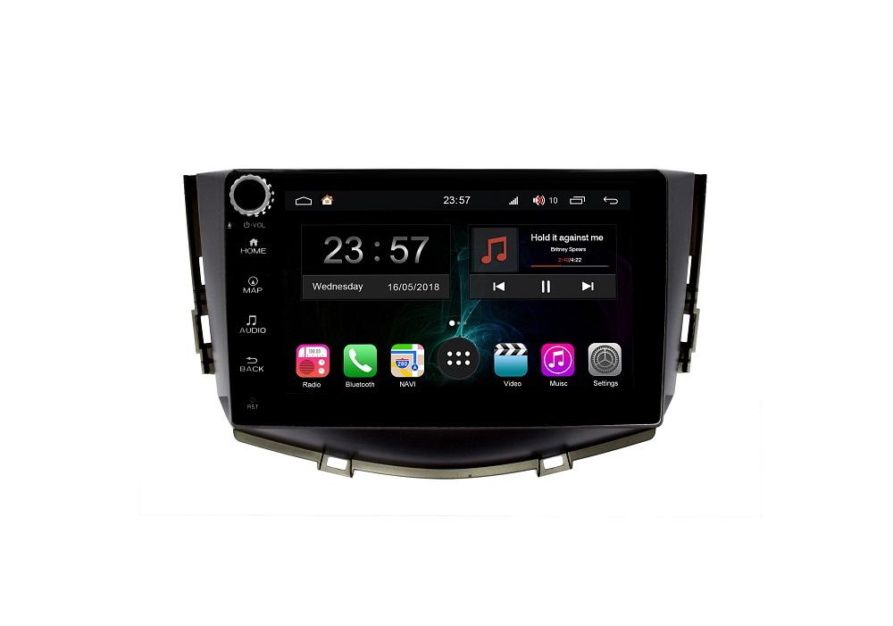Штатная магнитола FarCar s300-SIM 4G для Lifan X60 на Android (RG198RB) (+ Камера заднего вида в подарок!)