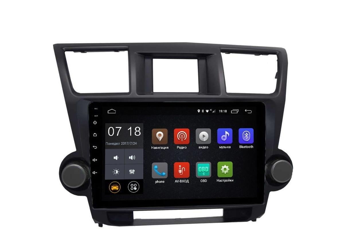 Штатная магнитола Toyota Highlander (U40) 2007-2013 LeTrun 2293 Android 6.0.1 10 дюймов (4G LTE 2GB) (+ Камера заднего вида в подарок!)