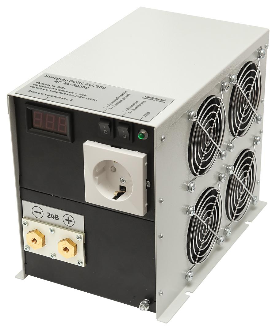 Инвертор СибКонтакт ИС-24-3000 DC-AC (+ Салфетки из микрофибры в подарок) купить по супер-цене