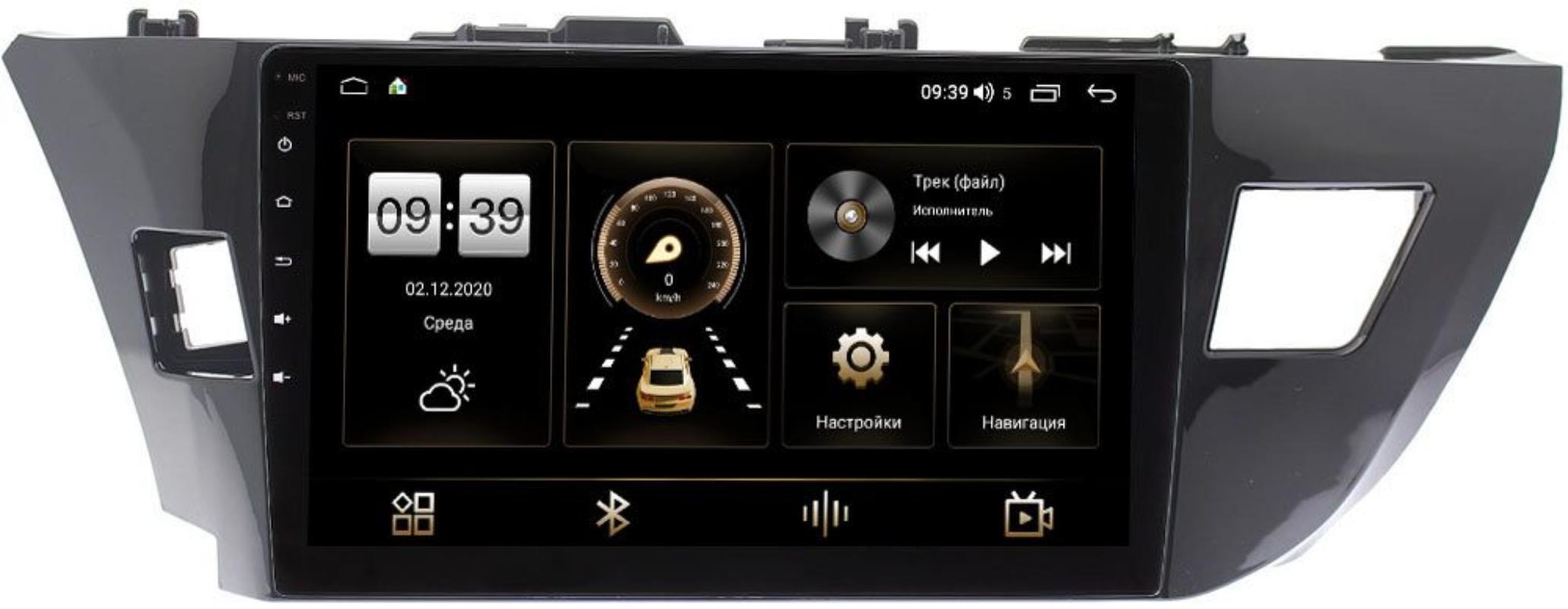 Штатная магнитола Toyota Corolla XI 2013-2015 LeTrun 4165-1026 на Android 10 (4G-SIM, 3/32, DSP, QLed) (для авто с камерой) (+ Камера заднего вида в подарок!)
