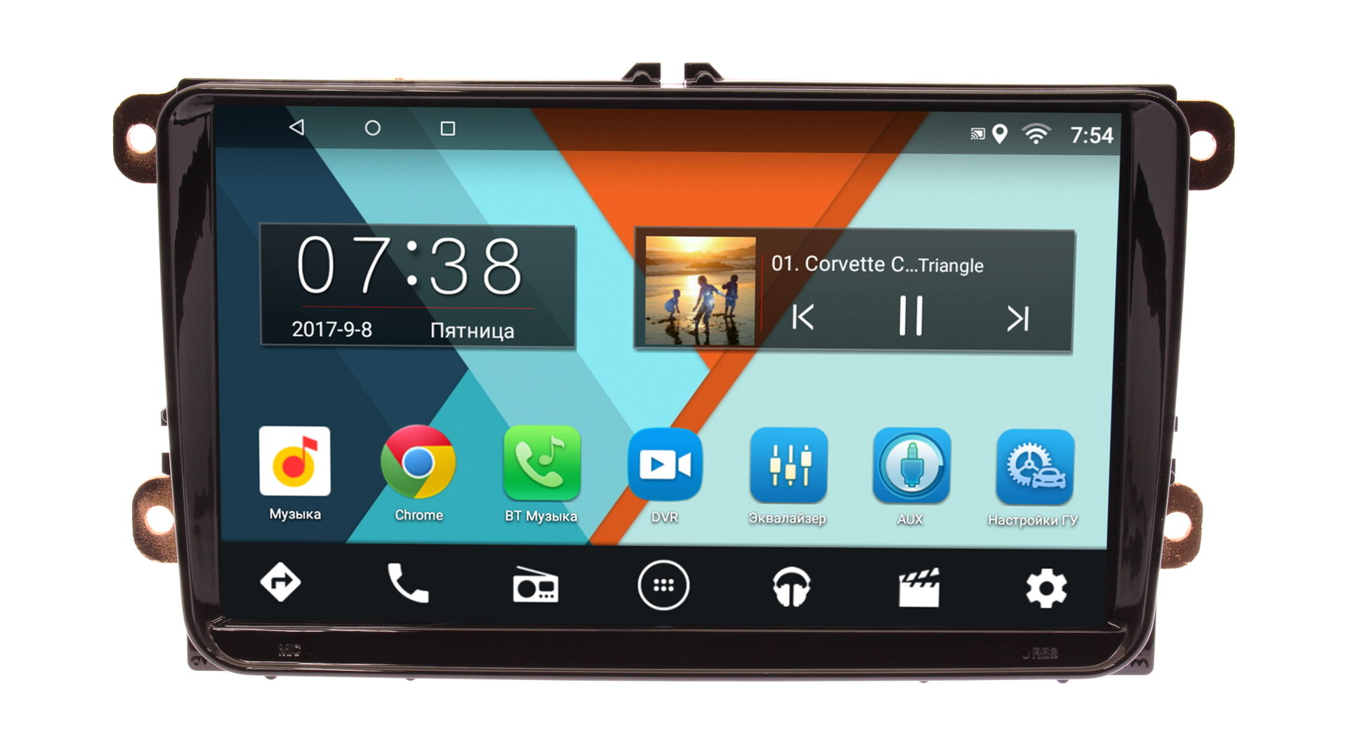Штатная магнитола Volkswagen Amarok, Jetta, Golf, Passat, Polo, Scirocco, Tiguan, Touran Wide Media MT9001 на Android 7.1.1 (2/16)