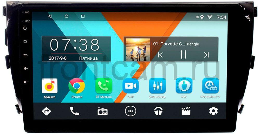 Штатная магнитола Zotye T600 Wide Media MT9076MF-1/16 на Android 6.0.1 (+ Камера заднего вида в подарок!)