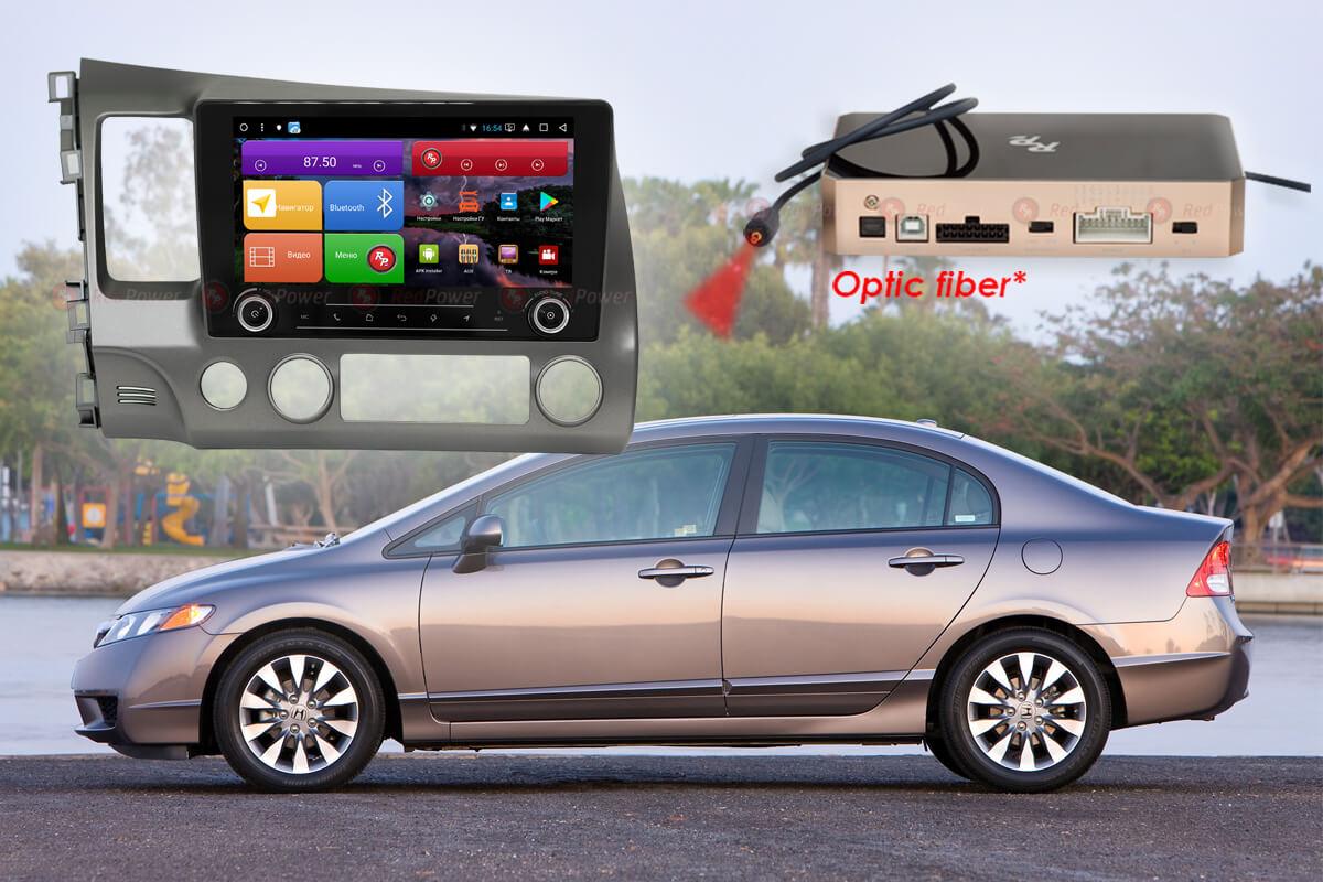 Автомагнитола для Honda Civic RedPower K 51024 R IPS DSP ANDROID 8+ (+ Камера заднего вида в подарок!)