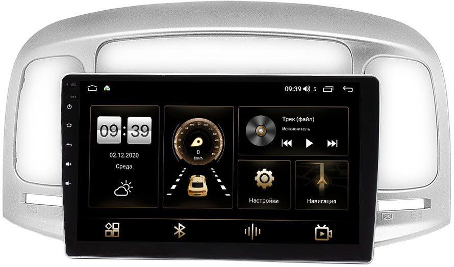 Штатная магнитола LeTrun 4196-9-069 для Hyundai Verna II 2005-2010 на Android 10 (6/128, DSP, QLed) С оптическим выходом (+ Камера заднего вида в подарок!)