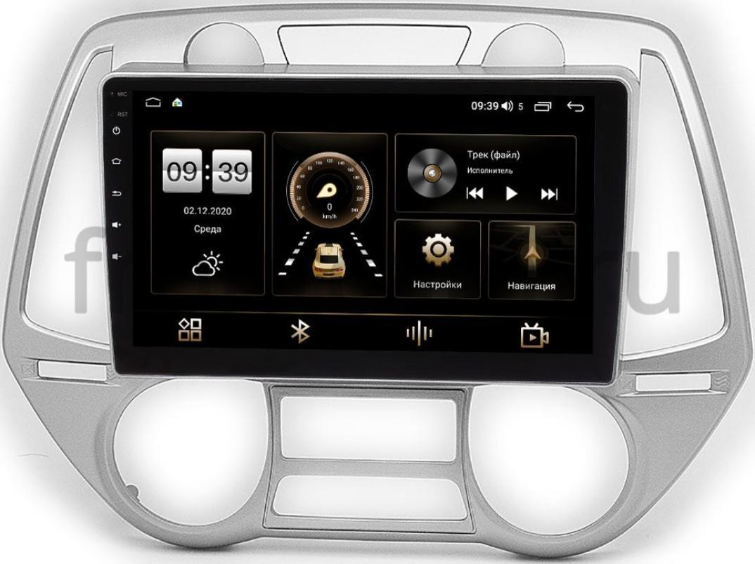Штатная магнитола Hyundai i20 I 2008-2012 LeTrun 4166-9-677 на Android 10 (4G-SIM, 3/32, DSP, QLed) (+ Камера заднего вида в подарок!)