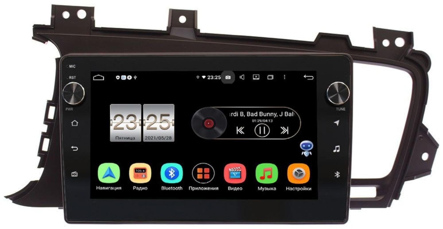 Штатная магнитола LeTrun BPX609-9015 для Kia Optima III 2010-2013 на Android 10 (4/64, DSP, IPS, с голосовым ассистентом, с крутилками) для авто без камеры (+ Камера заднего вида в подарок!)