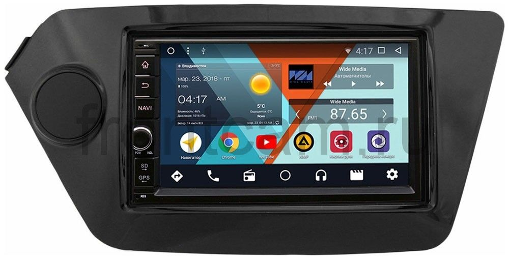 Штатная магнитола Wide Media WM-VS7A706NB-2/16-RP-KIRI-27 для Kia Rio III 2011-2017 Android 7.1.2 штатная магнитола wide media wm vs7a706nb rp bmx5c 21 для bmw 7 e38 5 e39 m5 e39 x5 e53 android 7 1 2