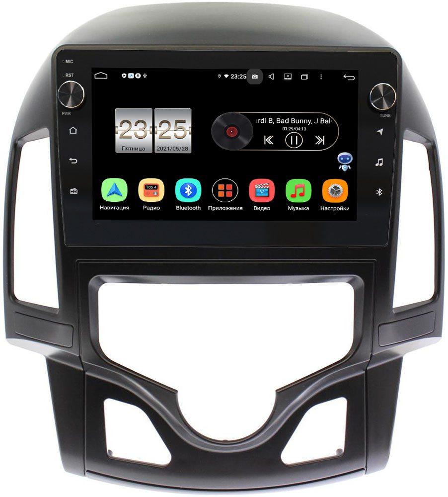 Штатная магнитола Hyundai i30 I 2007-2012 (с климат-контролем) LeTrun BPX609-142 на Android 10 (4/64, DSP, IPS, с голосовым ассистентом, с крутилками) (+ Камера заднего вида в подарок!)