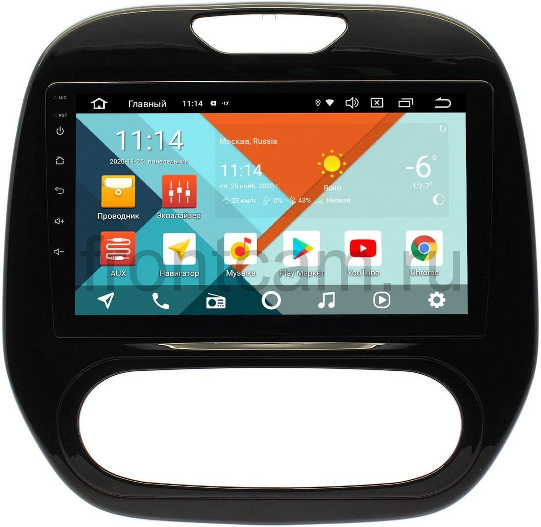 Штатная магнитола Wide Media KS9186QR-3/32 DSP CarPlay 4G-SIM для Renault Kaptur 2016-2020 (печка) на Android 10 (+ Камера заднего вида в подарок!)