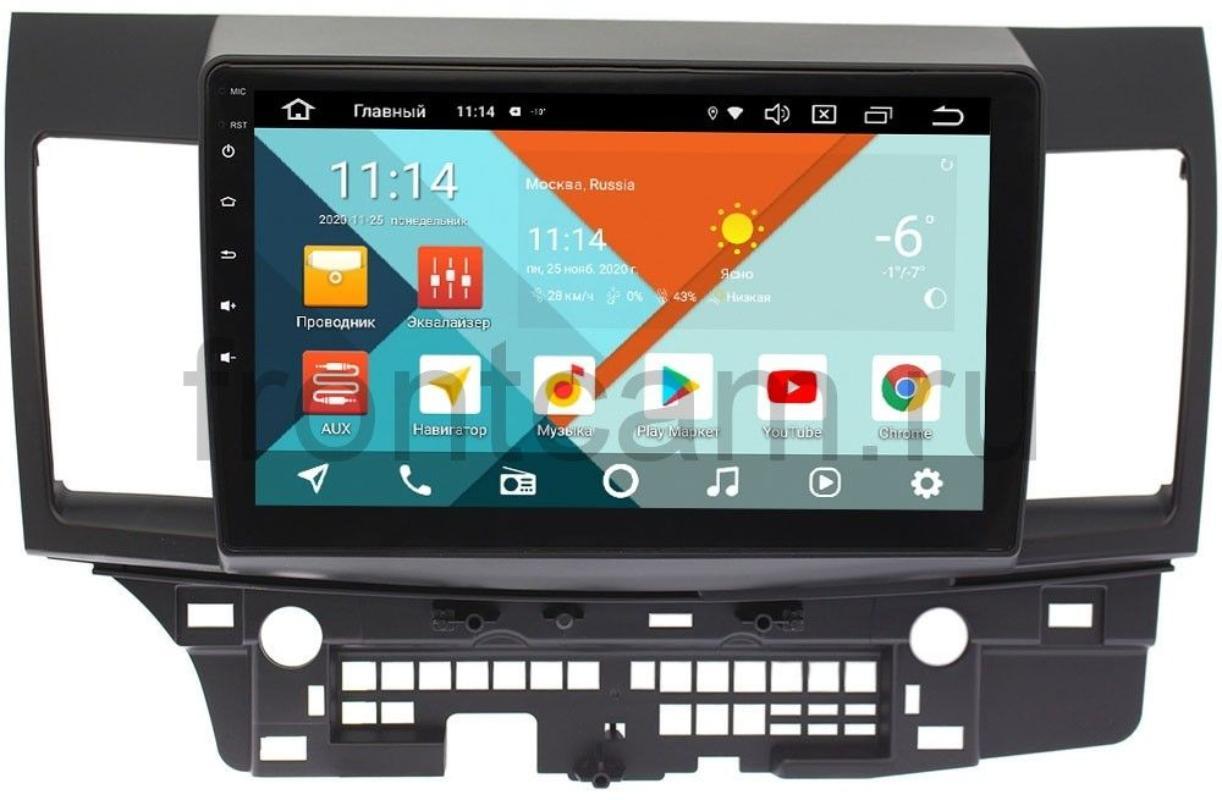 Штатная магнитола Wide Media KS1047QR-3/32 DSP CarPlay 4G-SIM для Mitsubishi Lancer X 2007-2018 на Android 10 (для авто с Rockford) (+ Камера заднего вида в подарок!)