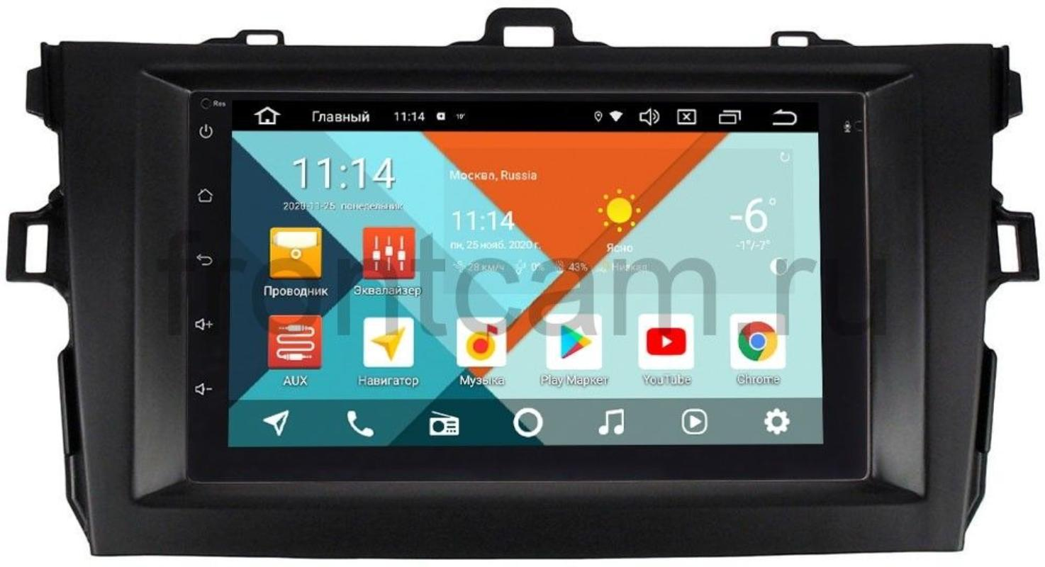 Штатная магнитола Toyota Corolla X 2006-2013 (черная) Wide Media KS7001QR-3/32-RP-TYCV14XB-47 на Android 10 (DSP CarPlay 4G-SIM) (+ Камера заднего вида в подарок!)