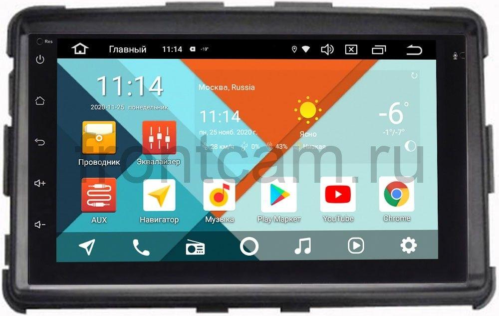 Магнитола в штатное место 2 din SsangYong Rexton III 2012-2018 Wide Media MT7001PK-2/16-RP-SYRXB-172 на Android 9.1 (DSP 3G-SIM) (+ Камера заднего вида подарок!)