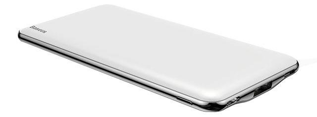 Портативное зарядное устройство Baseus Simbo Smart Power Bank 10000mAh Белый цена 2017