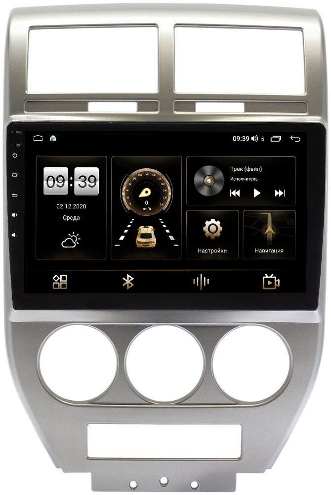 Штатная магнитола LeTrun 4166-9-328 для Jeep Compass I 2006-2010 на Android 10 (4G-SIM, 3/32, DSP, QLed) (+ Камера заднего вида в подарок!)