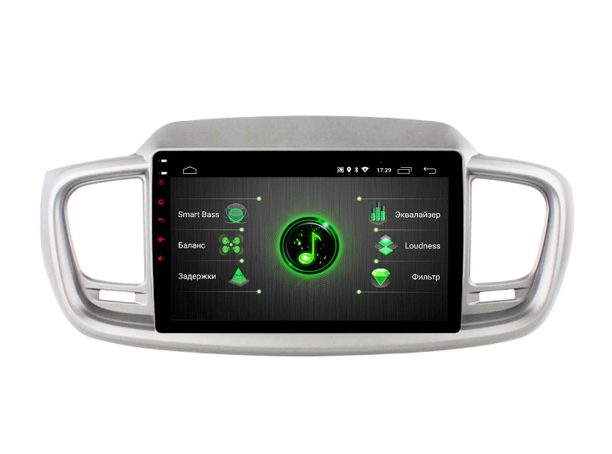 Штатная магнитола Incar DTA-1809 для KIA Sorento Prime 17+ Android 9.0 с процессором DSP (+ Камера заднего вида в подарок!)