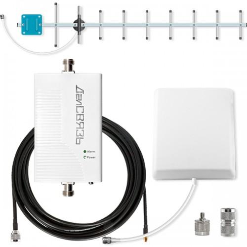 Усилитель сигнала сотовой связи и интернета ДалCвязь DS-900-17C2 репитер сигнала сотовой связи и интернета далcвязь ds 900 1800 2100 27