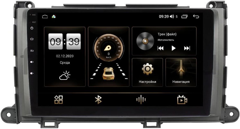 Штатная магнитола Toyota Sienna III 2010-2014 LeTrun 3792-9-202 на Android 10 (4/64, DSP, QLed) С оптическим выходом (+ Камера заднего вида в подарок!)