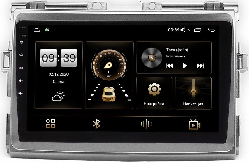 Штатная магнитола LeTrun 4166-9093 для Toyota Estima III, Previa 2000-2021 на Android 10 (4G-SIM, 3/32, DSP, QLed) (серая) (+ Камера заднего вида в подарок!)