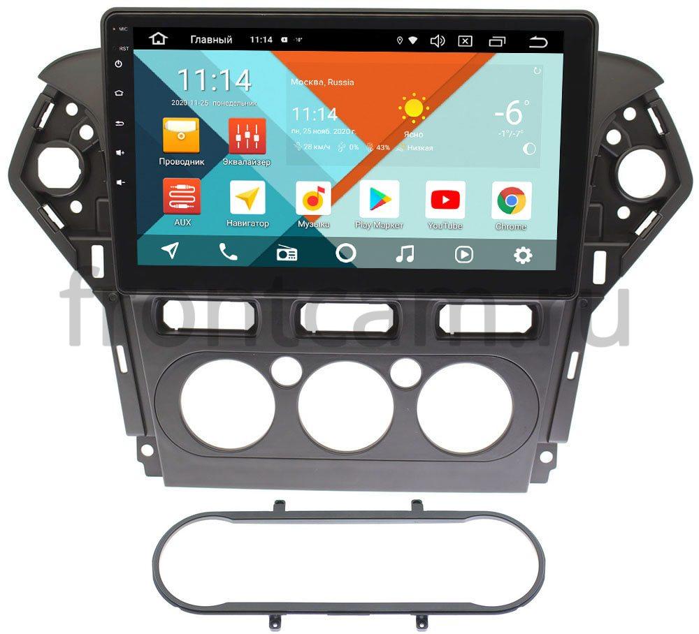 Штатная магнитола Ford Mondeo IV 2010-2015 (черная) Wide Media KS1019QR-3/32 DSP CarPlay 4G-SIM на Android 10 (+ Камера заднего вида в подарок!)