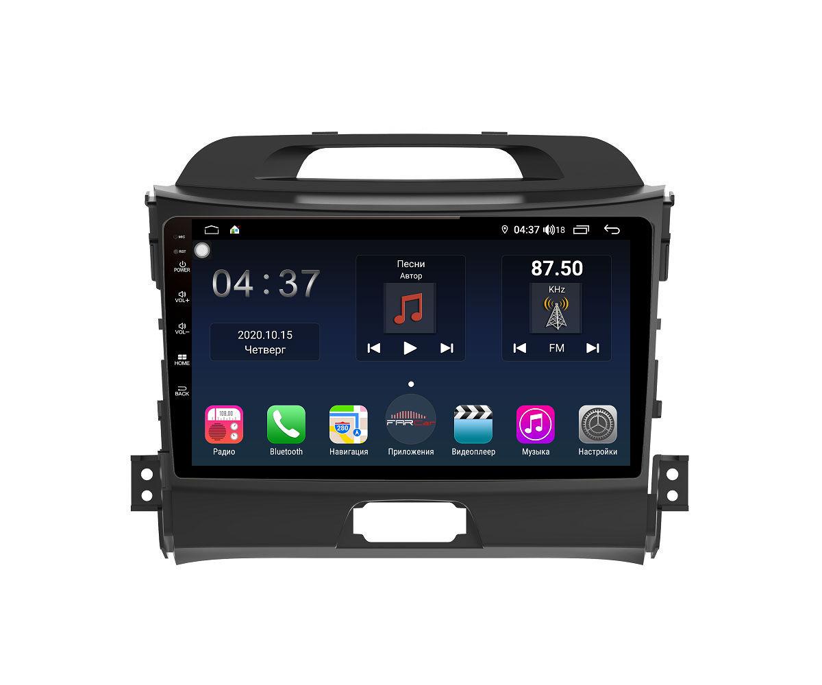 Штатная магнитола FarCar s400 для KIA Sportage на Android (TG537R) (+ Камера заднего вида в подарок!)