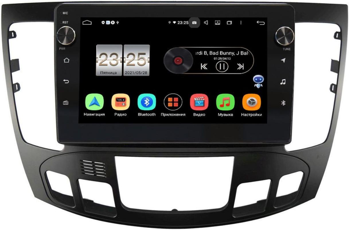 Штатная магнитола LeTrun BPX609-9336 для Hyundai Sonata V (NF) 2008-2010 (авто с климат контролем) на Android 10 (4/64, DSP, IPS, с голосовым ассистентом, с крутилками) (+ Камера заднего вида в подарок!)