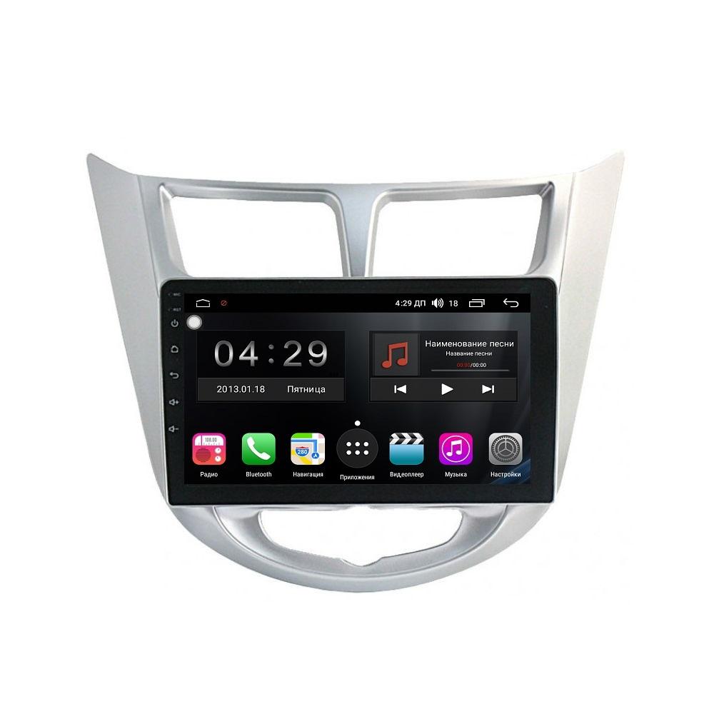 Штатная магнитола FarCar s300-SIM 4G для Hyundai Solaris 2010+ на Android (RG067R) (+ Камера заднего вида в подарок!)
