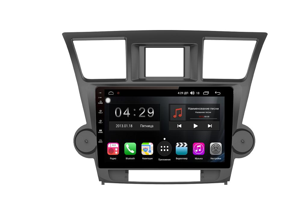Штатная магнитола FarCar s300-SIM 4G для Toyota Highlander (U40) 2007-2013 на Android (RG035R) (+ Камера заднего вида в подарок!) штатная магнитола farcar s300 для toyota highlander на android rl467r камера заднего вида в подарок