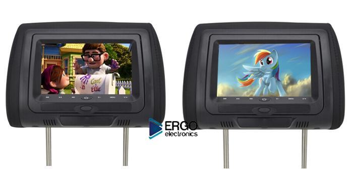 Автомобильный монитор Ergo ER704HD (+ Двухканальные наушники в подарок!)