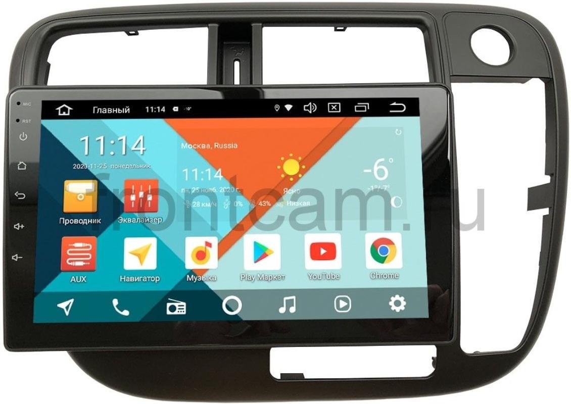 Штатная магнитола Honda Civic 7 (VII) (без климата) Wide Media KS9-226QR-3/32 DSP CarPlay 4G-SIM Android 10 (правый руль) (+ Камера заднего вида в подарок!)