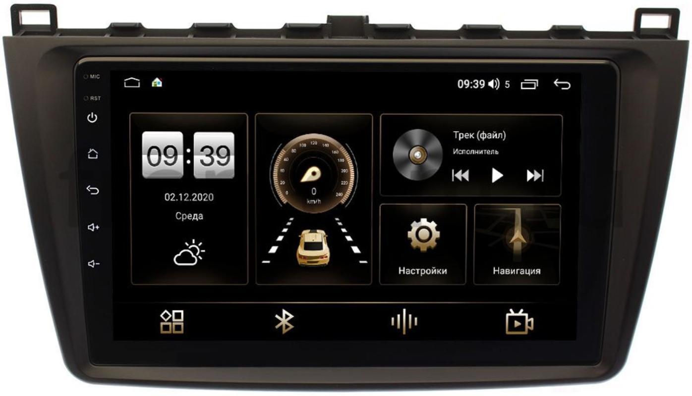 Штатная магнитола Mazda 6 (GH) 2007-2012 LeTrun 4196-9033 на Android 10 (6/128, DSP, QLed) С оптическим выходом (+ Камера заднего вида в подарок!)