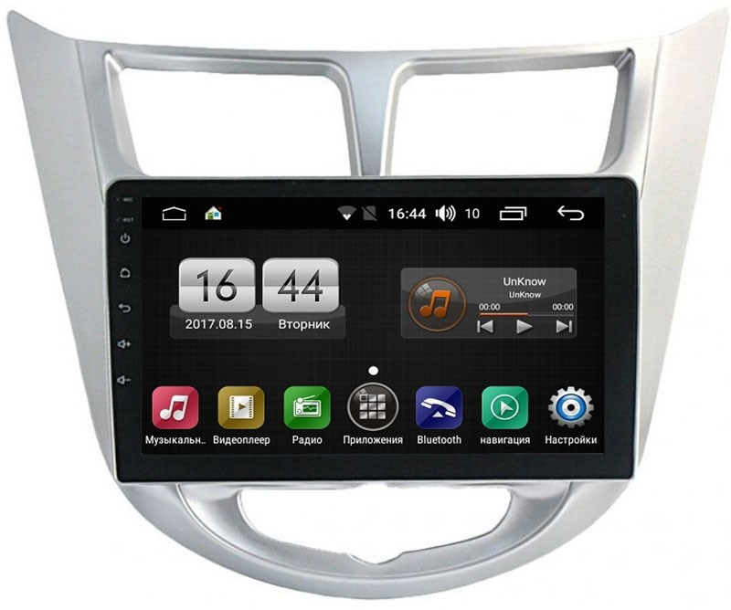 Штатная магнитола FarCar s195 для Hyundai Solaris 2010+ на Android (LX067R) (+ Камера заднего вида в подарок!)