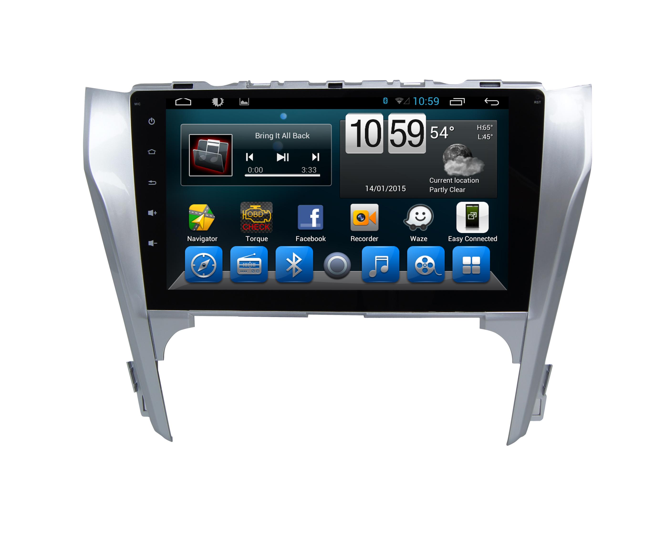Штатная магнитола CARMEDIA QR-1017-T8 Toyota Camry 2011-2014 (V50) поддержка штатного усилителя и настроек машины на OC Android 7.1.2 / 8.1 штатная магнитола carmedia nm px004 camry 11 2011 v50 v55