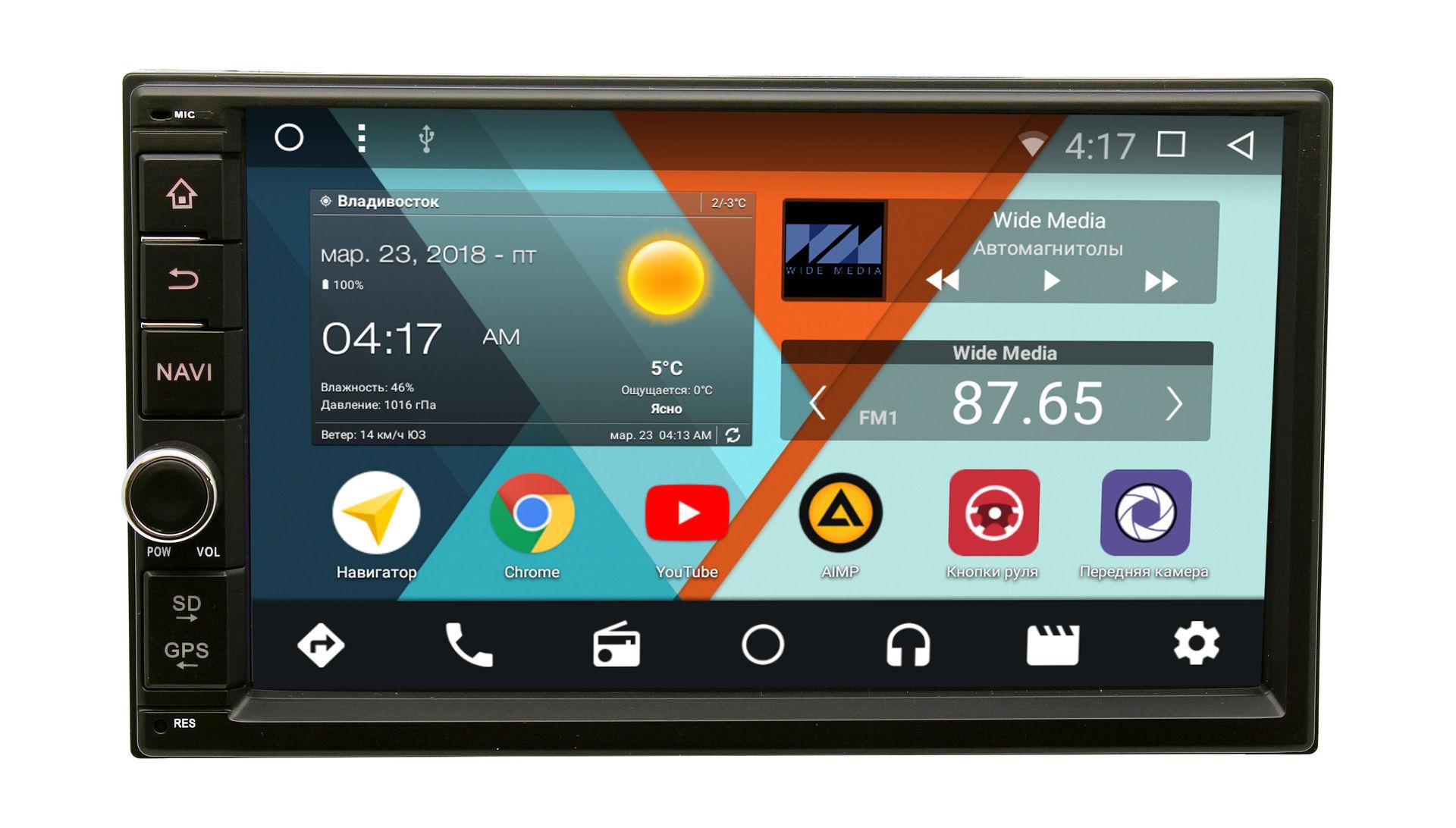 Штатная магнитола Wide Media WM-VS7A706NB-2/16-RP-TYCA3Xc-10 для Toyota Camry V30 2001-2006 Android 7.1.2Wide Media<br>Wide Media WM-VS — платформа на совершенно новом Android 7 c вкусным названием Нуга.
